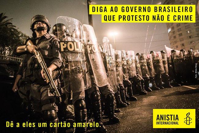 Protesto não é crime!